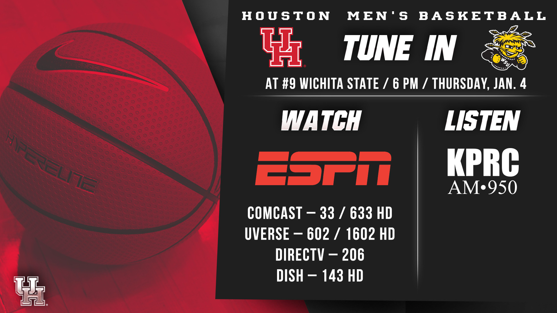 Cougars Travel To Wichita State Thursday 6 Pm On Espn L 81 63 Uverse Record Brings A 11 2 Overall And 1 0 Mark In American Athletic Conference Place Into Thursdays Game Shockers Are Ranked No